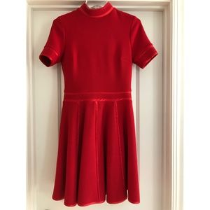 Paul & Joe Red Turtleneck Flare Dress